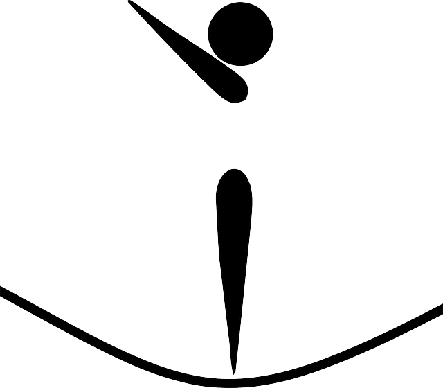 zobrazení pohybu trampolíny